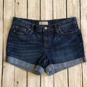 Banana republic denim roll cuff shorts Sz 4